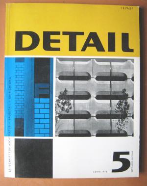 gebrauchtes buch detail zeitschrift f r architektur baudetail einrichtung serie 1970. Black Bedroom Furniture Sets. Home Design Ideas