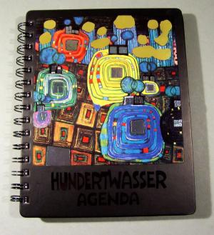 50 x friedensreich hundertwasser werke 50 bilder in agenda 1998 buch gebraucht kaufen. Black Bedroom Furniture Sets. Home Design Ideas