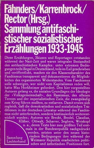 Sammlung antifaschistischer sozialistischer Erzählungen 1933-1945