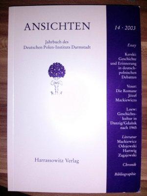 Ansichten - Jahrbuch des Deuten Polen-Institus Darmstadt 14, 2003