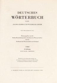 Deutsches Wörterbuch. Neubearbeitung. 7. Band, 8. Lieferung: Einunger - Empörer. - Grimm, Jakob Grimm, Wilhelm