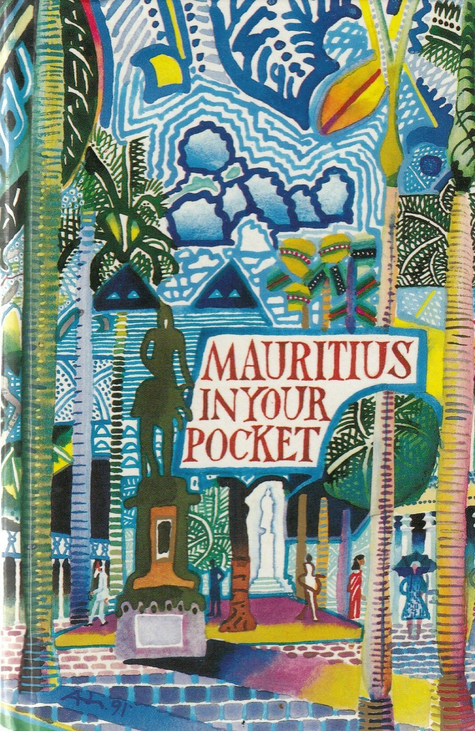 "Mauritian Cookbook Cover : ""mauritius in your pocket maurice dans votre poche"