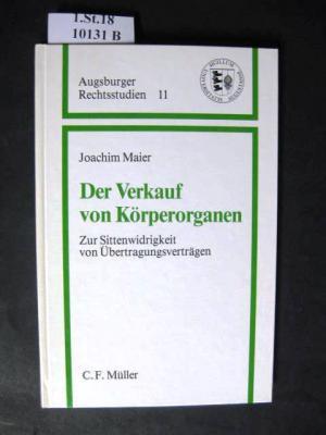 """Der Verkauf von Körperorganen"""" (Joachim Maier) – Buch gebraucht ..."""