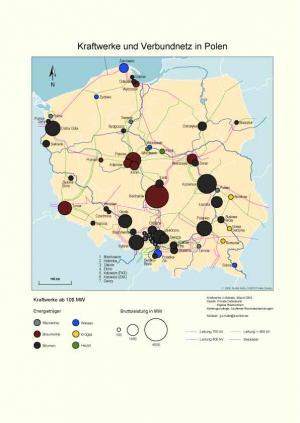 Polen Karte 2019.Kraftwerke Und Verbundnetz In Polen 2019 Digitale Karte Auf Cd Rom