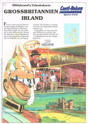Grossbritannien und Irland - Hildebrand's Urlaubskarte