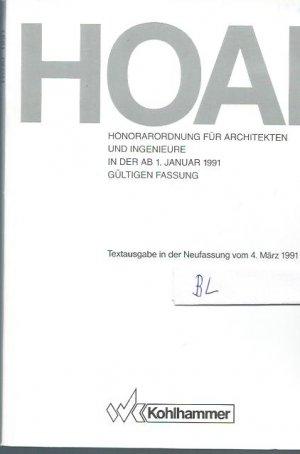 HOAI Honorarordnung fur Architekten und Ingenieure