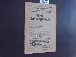 "Miete-Quittungsbuch "" (Rietschel / Dresden/ Schlechte Hans ) – Buch ..."