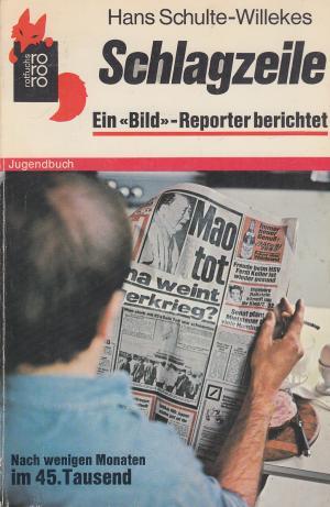Schlagzeile. Ein Bild- Reporter berichtet