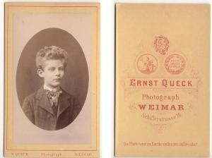 Antiquarisches Buch Queck Ernst Photograph CDV Carte De Visite Foto Knabe Mit Frisur