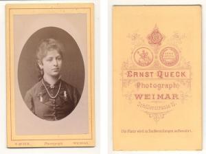Antiquarisches Buch Queck Ernst Photograph CDV Carte De Visite Foto Portrat Junge Frau