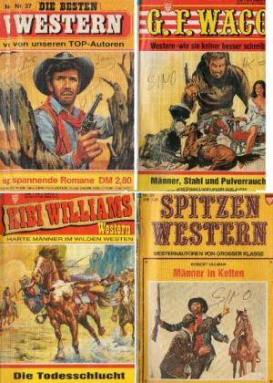 4 Groschenromane ( kelter Western )