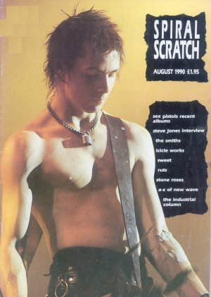 Bildtext: Spiral Scratch Magazin Nummer Volume 2 Issue one August 1990     THE RUTS, STONE ROSES, STEVE JONES, SEX PISTOLS, SWEET, ICICLE WORKS, THE SMITHS von SPIRAL SCRATCH
