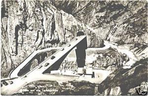 AK SW Schweiz Neue und alte Teufelsbrücke um 1959