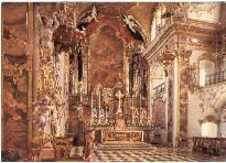 AK Color Einsiedeln - Stiftskirche Hochaltar Innenansicht Schweiz um 1980
