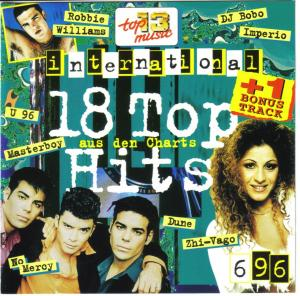 18 Tophits aus den Charts 1996/06 International