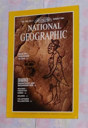 National Geographic August 1981- Maya Art discovered in cave