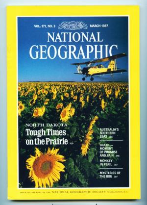 National Geographic - March 1987- North Dakota  Tough Times on the Prairie