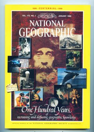 National Geographic - January 1988 - One hundred years  increasing and diffusing gegraphic knowledge