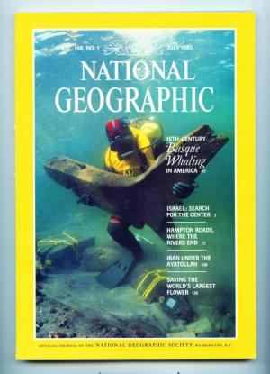 National Geographic - July 1985 - 16th-Century  Basque Whaling in America