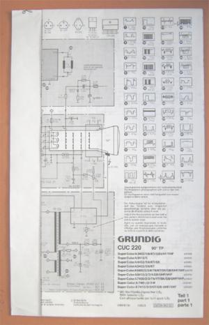 GRUNDIG CUC 220 Super Color Teil 1 - Schaltplan Fernseher TV ...