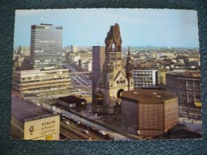 AK Berlin,gelaufen 1967: Europa Center und Kaiser-Wilhelm-Gedächtniskirche