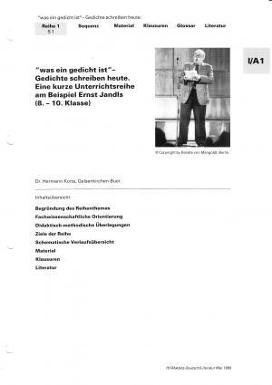 Deutsch Arbeitsmaterialien Gedichte Mit Arbeitsauftragen 15