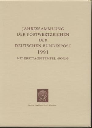 1991 Jahressammlung Der Postwertzeichen Der Deutschen Bundespost