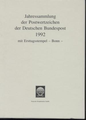 1992 Jahressammlung Der Postwertzeichen Der Deutschen Bundespost