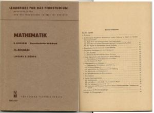 8. Lehrbrief für das Fernstudium, lineare Algebra