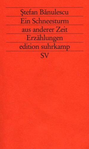 gebrauchtes Buch – Banulescu, Stefan – Ein Schneesturm aus anderer Zeit