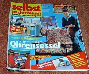 selbst ist der mann das heimwerker magazin rollwagen ohrensessel zeitschrift heft 10. Black Bedroom Furniture Sets. Home Design Ideas