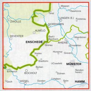 Emsland Karte.Fahrrad Karte Emsland Münsterland