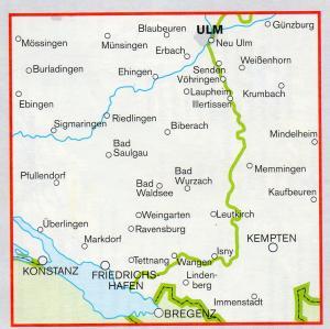 Fahrrad Karte.Fahrrad Karte Bodensee Allgäu