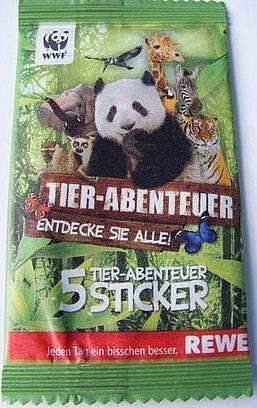 """REWE WWF 20 Sticker aussuchen /""""WWF Tier Abenteuer/"""""""