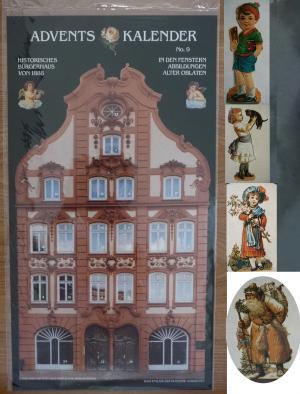 Alte Weihnachtskalender.Adventskalender Alte Oblaten Bügerhaus Hamburg