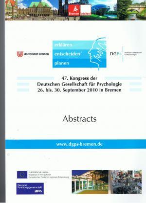 erklären, entscheiden, planen, 47. Kongress der Deutschen Gesellschaft für Psychologie