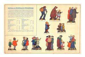 Weihnachtskrippe Bastelbogen