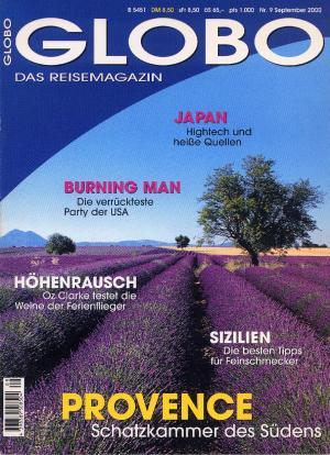 Bildtext: GLOBO Das Reisemagazin Nr. 9/ 2000 von Peter Kanzler