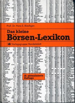 Bildtext: Das kleine Börsen-Lexikon von Büschgen, Hans E