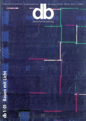 Bildtext: deutsche Bauzeitung 1/01 Bauen mit Licht  -  Zeitschrift für Architekten und Bauingenieure von Wilfried Dechau