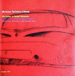 Bildtext: Alfa Romeo - La Bellesa Necessària - The Essence of Beauty - Barcelone 1994 von Riccardo P. Felicioli