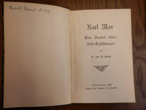 KARL MAY  -- Eine Analyse seiner Reise-Erzählungen