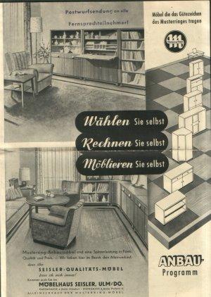 Musterring Möbel Reklame Postwurfsendung Der Firma Möbelhaus