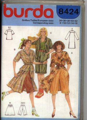 burda Schnittmuster - Bermudas, Röcke und Kleider aus Popelin ...