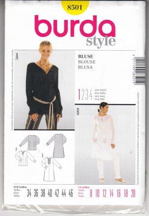 Burda Style 8501 Schnittmuster Bluse Blouse Blusa Shirt Oberteil ...