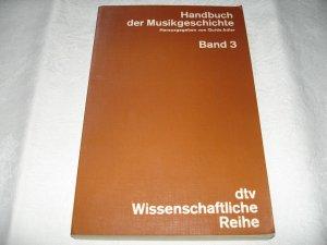 Handbuch der Musikgeschichte  Band 3