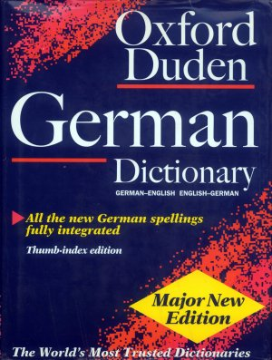 Bildtext: The Oxford-Duden German Dictionary: German-English, English-German - gebundene Ausgabe, mit Griffregister von Olaf Thyen, Werner Scholze-Stubenrecht, John Bradbury Sykes, Dudenredaktion (Bibliographisches Institut)