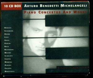 Arturo Benedetti Michelangeli - Piano Concertos and Works [Box set mit 10 CD]