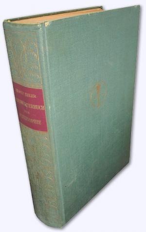 Eislers Handwörterbuch der Philosophie. Neuherausgegeben von Richard Müller-Freienfels. 2. Aufl.