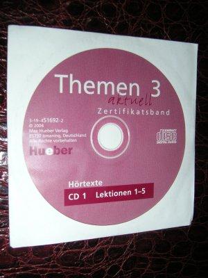 Themen aktuell 3  Zertifikatsband CD (Lektionen 1-5)